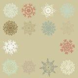 Flocos de neve retros bonitos. EPS 10 Foto de Stock