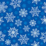 Flocos de neve sem emenda Fotos de Stock