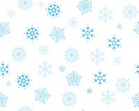 Flocos de neve sem emenda Fotos de Stock Royalty Free