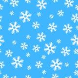 Flocos de neve sem emenda da decoração do Natal ilustração do vetor