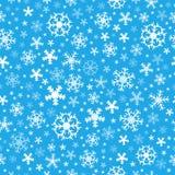 Flocos de neve sem emenda 6 do fundo Imagens de Stock Royalty Free