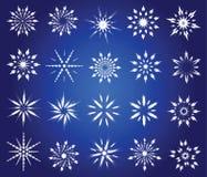 Flocos de neve simbólicos. Imagens de Stock