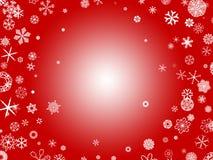 Flocos de neve - vermelho Fotografia de Stock Royalty Free