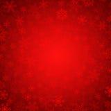 Flocos de neve vermelhos Fotos de Stock Royalty Free