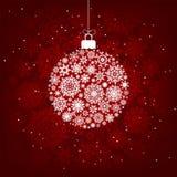 Flocos de neve vermelhos e brancos. EPS 8 Imagens de Stock Royalty Free