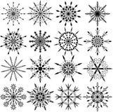 Flocos de neve, vetor Fotos de Stock Royalty Free