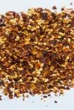 Flocos de pimenta vermelha Imagem de Stock Royalty Free