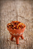 Flocos de pimenta vermelha secados Imagens de Stock