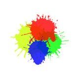 Flocs d'aquarelle d'isolement sur le vecteur blanc de fond Photo stock