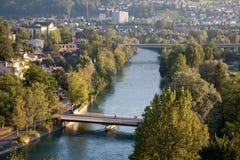 Flod Aar; Bern Royaltyfri Bild