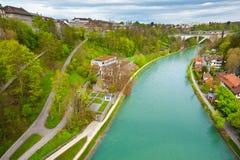 Flod Aare Royaltyfri Fotografi