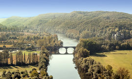 Flod Aquitaine Arkivfoto