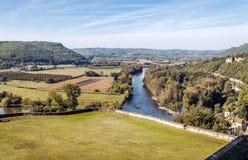 Flod Aquitaine France Royaltyfri Fotografi