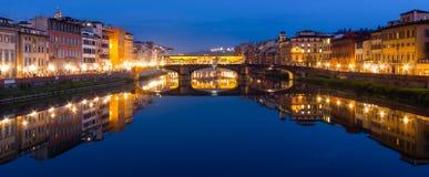 Flod Arno i Florence Royaltyfria Foton