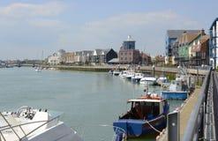 Flod Arun på Littlehampton sussex england Royaltyfria Bilder