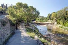 Flod av Lagrasse Royaltyfri Fotografi