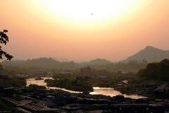 Flod av liv fotografering för bildbyråer
