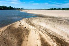 Flod av sand royaltyfria foton