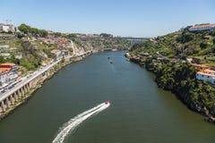 Flod av Tejo i Portugal royaltyfria bilder