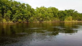 Flod av vatten på floden arkivfilmer
