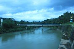 Flod av yogyakarta Indonesien fotografering för bildbyråer