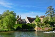 Flod Avon, Salisbury, England arkivfoto