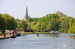 Flod Avon, Stratford-på-Avon Fotografering för Bildbyråer