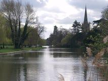 Flod Avon Stratford-på-Avon, England, UK arkivbilder