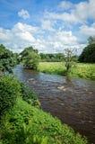 Flod Calder i Lancashire, England arkivbild