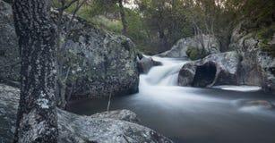 Flod Cambrones i La Granja de San Ildefonso segovia Royaltyfria Bilder