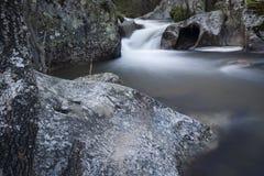 Flod Cambrones i La Granja de San Ildefonso segovia Arkivbilder