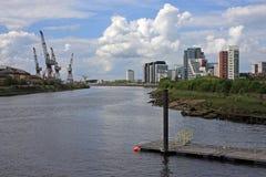 Flod Clyde, Glasgow Royaltyfri Foto