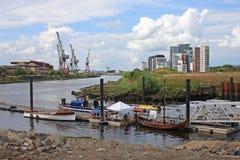 Flod Clyde, Glasgow Arkivbild