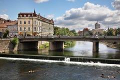 Flod Crisul Repede i Oradea romania Royaltyfri Fotografi
