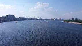 Flod Dnepr Royaltyfri Foto