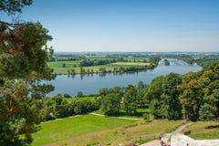 Flod Donau som ses från Walhallaen Royaltyfria Foton