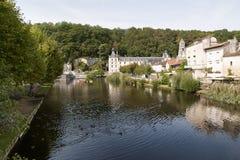 Flod Dronne i Brantome Royaltyfri Foto
