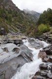 Flod Dugoba i Kirgizistan Arkivfoto