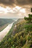 Flod Elbe i anglosaxaren Schweiz Royaltyfria Foton