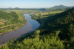 Flod Elbe, Tjeckien royaltyfri bild