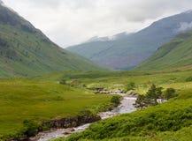 Flod Etive nära Glen Coe, Skotska högländerna, Skottland, Förenade kungariket Arkivfoto