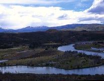 flod för acensioargentina patagonia Arkivbild