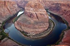 flod för böjningscolorado hästsko Royaltyfri Foto