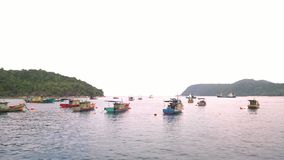 flod för fartygporslinhunan landskap Arkivbilder