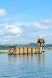 Flod för forntida tempel i Sangkhlaburi, Karnchanaburi Fotografering för Bildbyråer