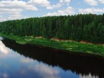 flod för land 5 Arkivbild