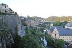 Flod för Luxembourg stad Fotografering för Bildbyråer