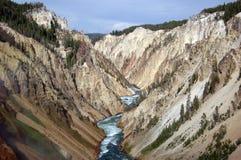 flod för naturlig park för banff Kanada kanjon Arkivbild