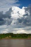 flod för peruan för amazonasliggandemaranon Arkivbild