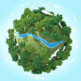 flod för planet 3D Royaltyfri Foto